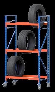 Fahrbares Reifenregal