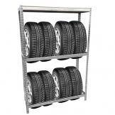 Grafner® Reifenregal mit Kantenschutz Lagerregal Schwerlastregal Reifen Regal Aufbewahrung Felgenregal -